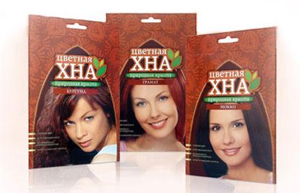Краски для волос растительные